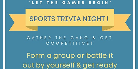 """PE98 Presents """" Let the Games Being"""" A Sports Trivia Night tickets"""