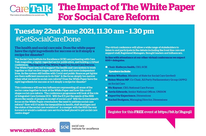 Care Talk Virtual - The impact of the White Paper for social care reform image