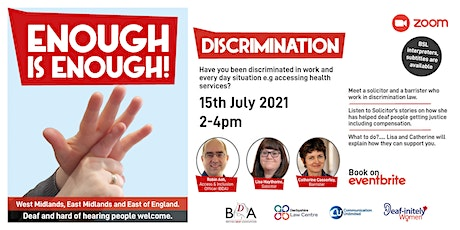 Enough is Enough: Discrimination tickets