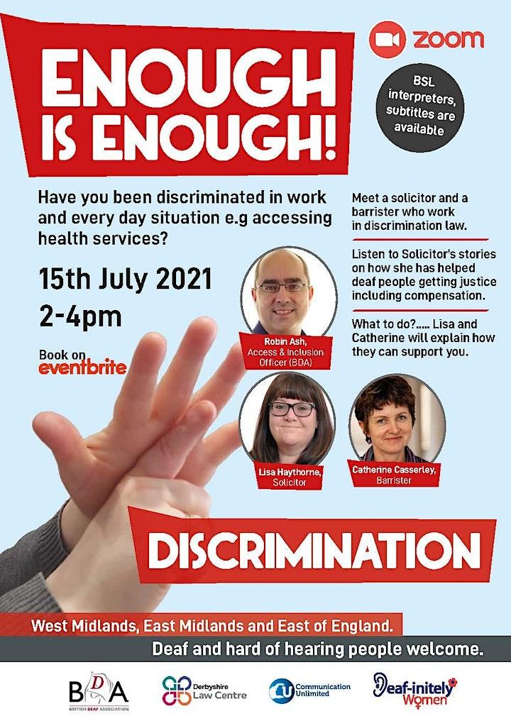 Enough is Enough: Discrimination image