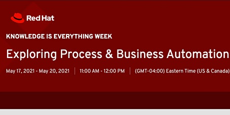 KIE Week: Exploring Process & Business Automation tickets