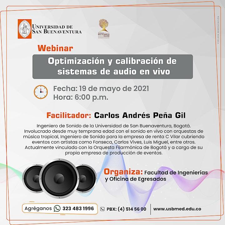 Imagen de Optimización y calibración de sistemas de audio en vivo.