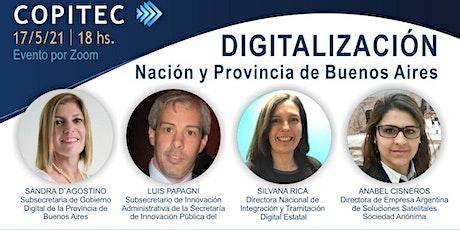 DIGITALIZACIÓN. Nación y Provincia de Buenos Aires entradas