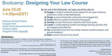Bootcamp: Designing Your  Law Course tickets