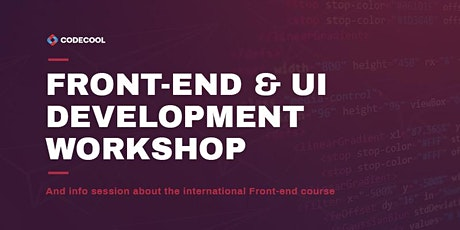 Front-end & UI development workshop and info session - in English tickets