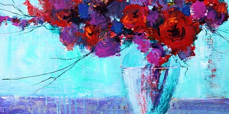 Paint and Sip at Home 'Impressions in Pink' tickets