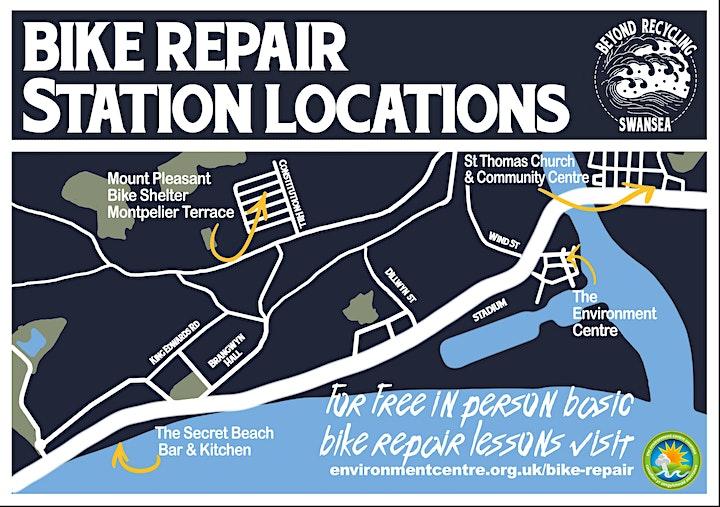 Free Bike Repair Training Session And Dr Bike @ Environment Centre Swansea image