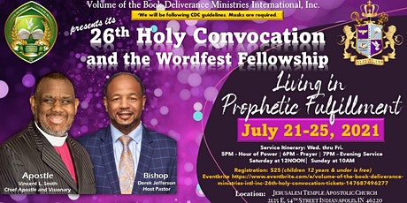 Volume of the Book Deliverance Ministries Int'l., Inc 26th Holy Convocation tickets
