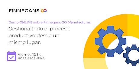 Demo ONLINE Finnegans GO Manufacturas boletos