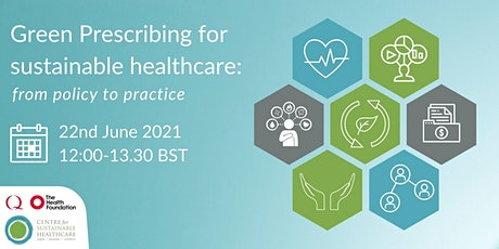 Green Prescribing for sustainable healthcare: from policy to practice tickets