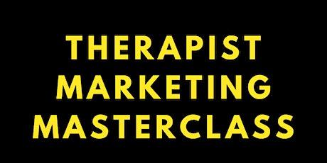 Therapist Marketing Masterclass tickets