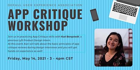 App Critique  Workshop with Kari Bergstedt tickets