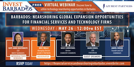 FINANCIAL SERVICES FIRMS AND TECHNOLOGY NEARSHORING TO THE CARIBBEAN tickets