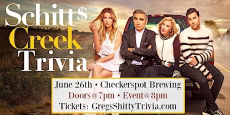 """Schitt's Creek"" Trivia Night 1.0 @ Checkerspot Brewing tickets"