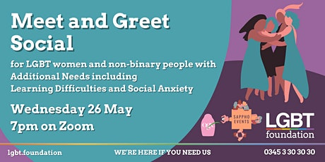 Meet & Greet Social for LGBT+ Women  with Additional Needs tickets
