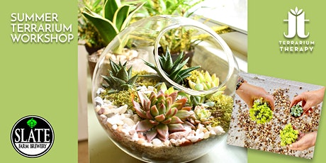 In-Person Glass Succulent Terrarium Workshop at Slate Farm Brewery tickets