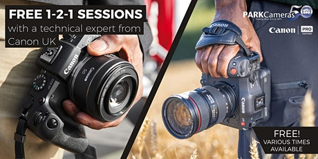 FREE in-store 1-2-1 sessions with Park Cameras and Canon: London tickets