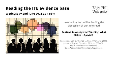 2nd June 2021 Edge Hill University ITT Core Content reading group tickets