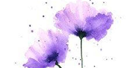 Purple Flowers, Painting with Watercolors, All ages are welcome tickets
