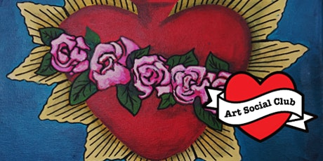 Mexican Sacred Heart Painting Workshop - No drawing skills needed tickets