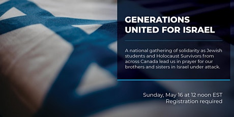 Generations United for Israel  | Générations unies pour Israël tickets