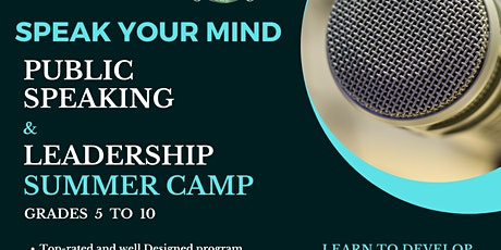 Public Speaking Summer Camp in  Southlake tickets