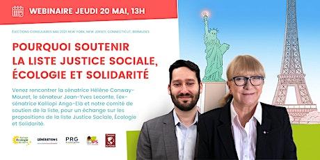 Pourquoi soutenir la liste Justice Sociale, Écologie et Solidarité billets
