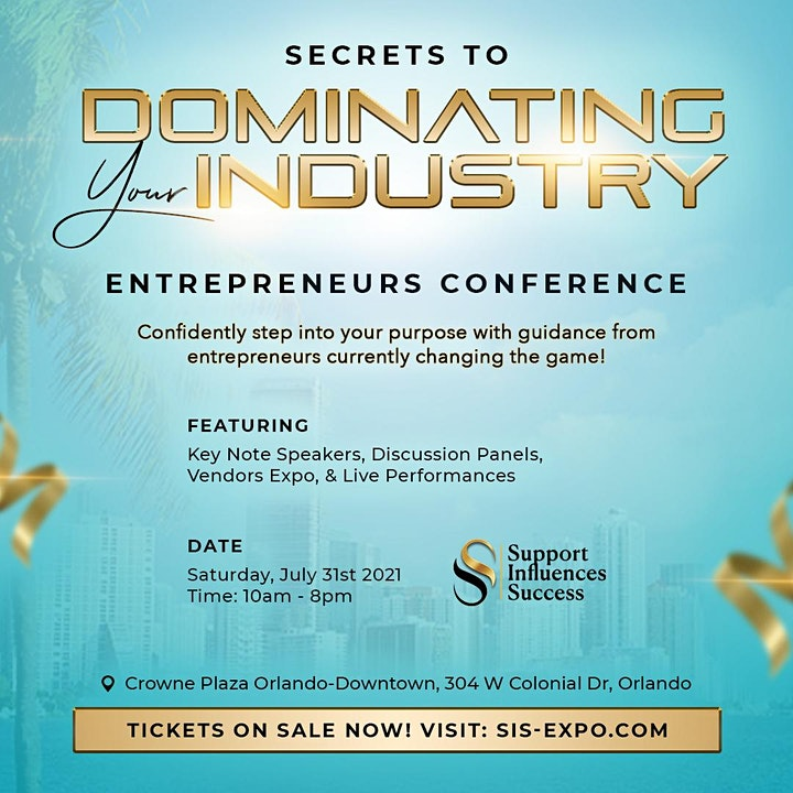 Secrets to Dominating Your Industry : Entrepreneurs Conference image