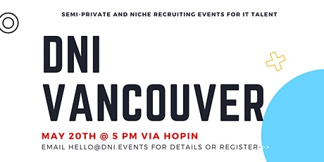 DNI Vancouver 5/20 Employer Ticket (Diversity and Inclusion) tickets