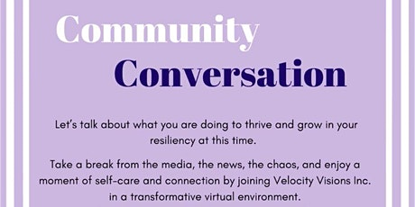 Community Conversation on Mental Health, Resilience and Thriving tickets