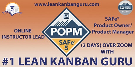 Online SAFe Product Owner/Product Manager, 27-28 May, CEST Time biglietti