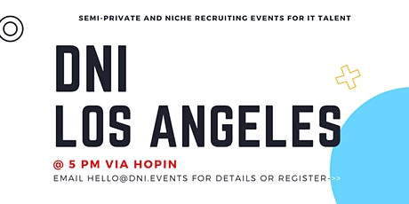 DNI Los Angeles Employer Ticket (Software Developers), December 2nd tickets