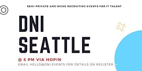 DNI Seattle Employer Ticket (Devs, Data, PMs), October 21st tickets