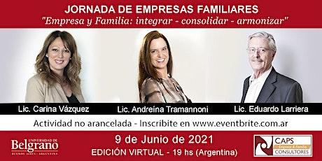 Jornada de Empresas Familiares -Empresa y Familia: integrar - consolidar  1 entradas