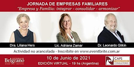Jornada de Empresas Familiares -Empresa y Familia: integrar - consolidar 2 entradas