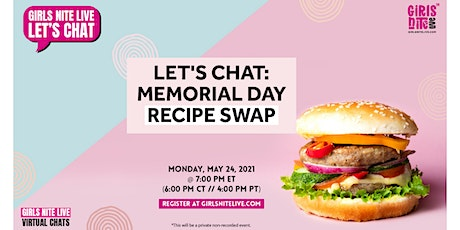 Let's Chat - Memorial Day Recipe Swap tickets