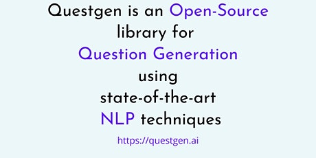 Question generation using Natural Language Processing by QuestGen.AI tickets