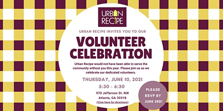 Urban Recipe Volunteer Celebration tickets