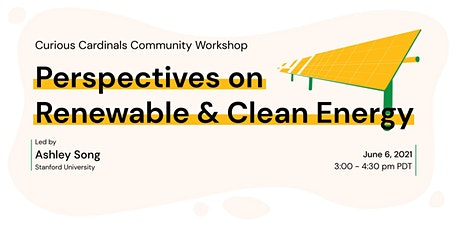 Perspectives on  Renewable & Clean Energy tickets