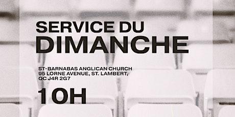 Service du Dimanche Snowbal l Church Quebec tickets