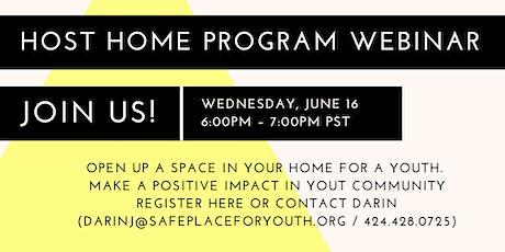Host Home Program – Information Session tickets