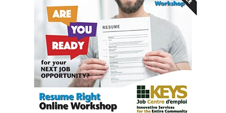 Resume Right: Virtual Workshop tickets