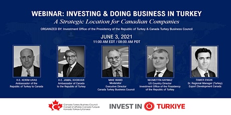 INVESTING AND DOING BUSINESS IN TURKEY:  POTENTIAL FOR CANADIAN COMPANIES tickets