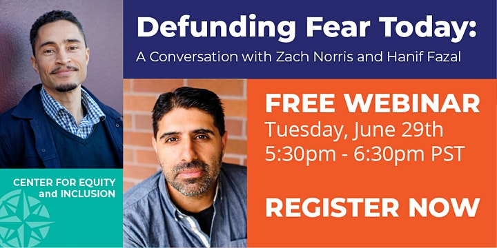 Defunding Fear:  A Conversation with Author Zach Norris and Hanif Fazal image