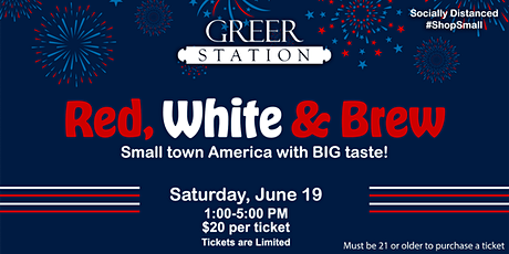 Red, White & Brews: Small Town America with BIG Taste! tickets