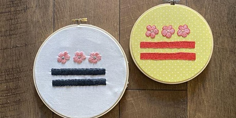 Intro to Embroidery : DC Cherry Blossom Flag tickets