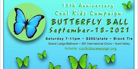 15th Anniversary Cool Kids Campaign Butterfly Ball tickets