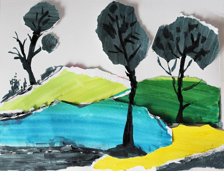 Creating Landscape with Collage, All ages are welcome image