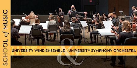 University Wind Ensemble/University Symphony Orchestra Virtual Performance Tickets