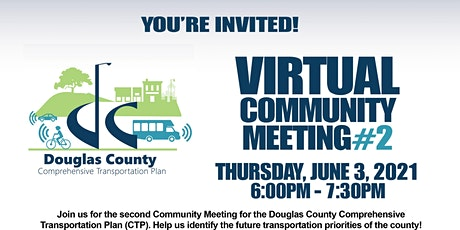 Douglas County CTP  2nd Virtual Community Meeting tickets